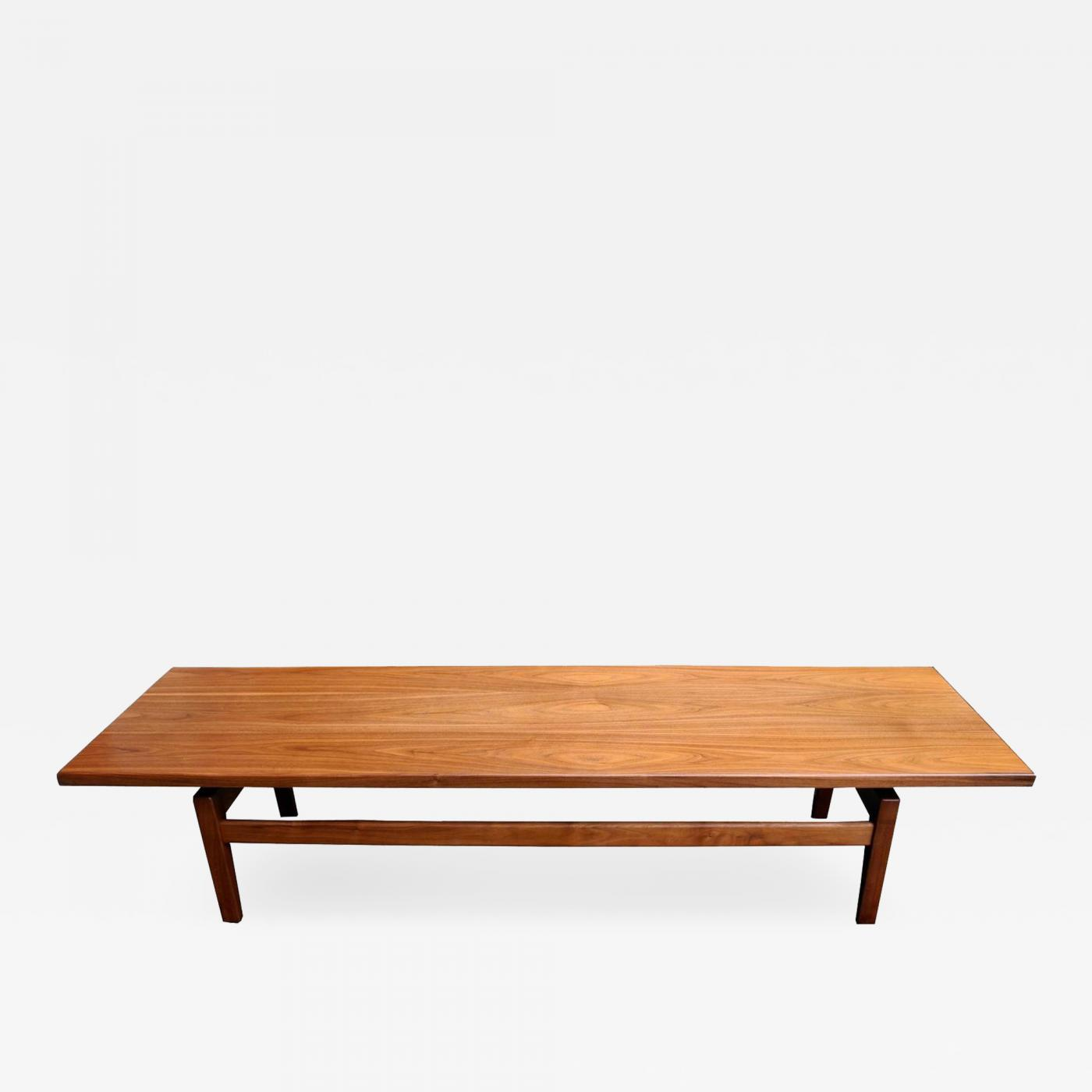 Jens Risom Mid Century Modern Solid Walnut Low Coffee Table or