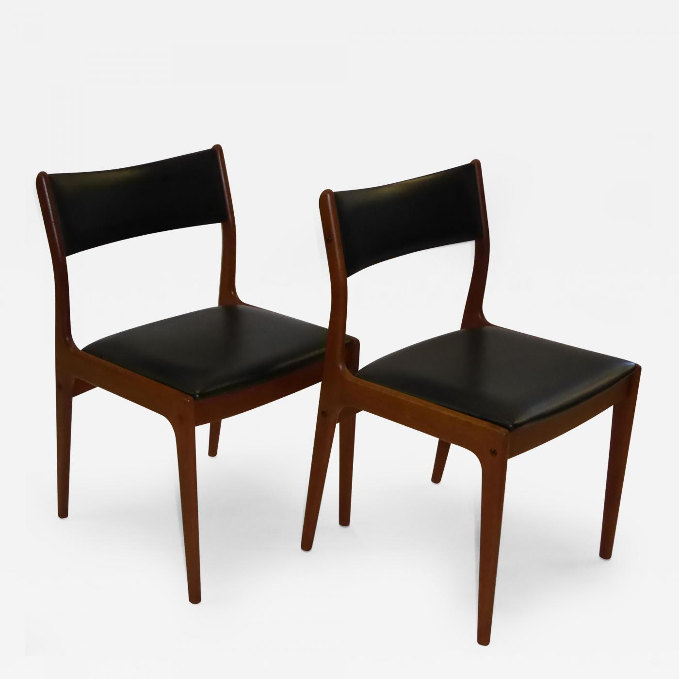 johannes andersen  four teak danish dining chairs by uldum  - listings  furniture  seating  dining chairs