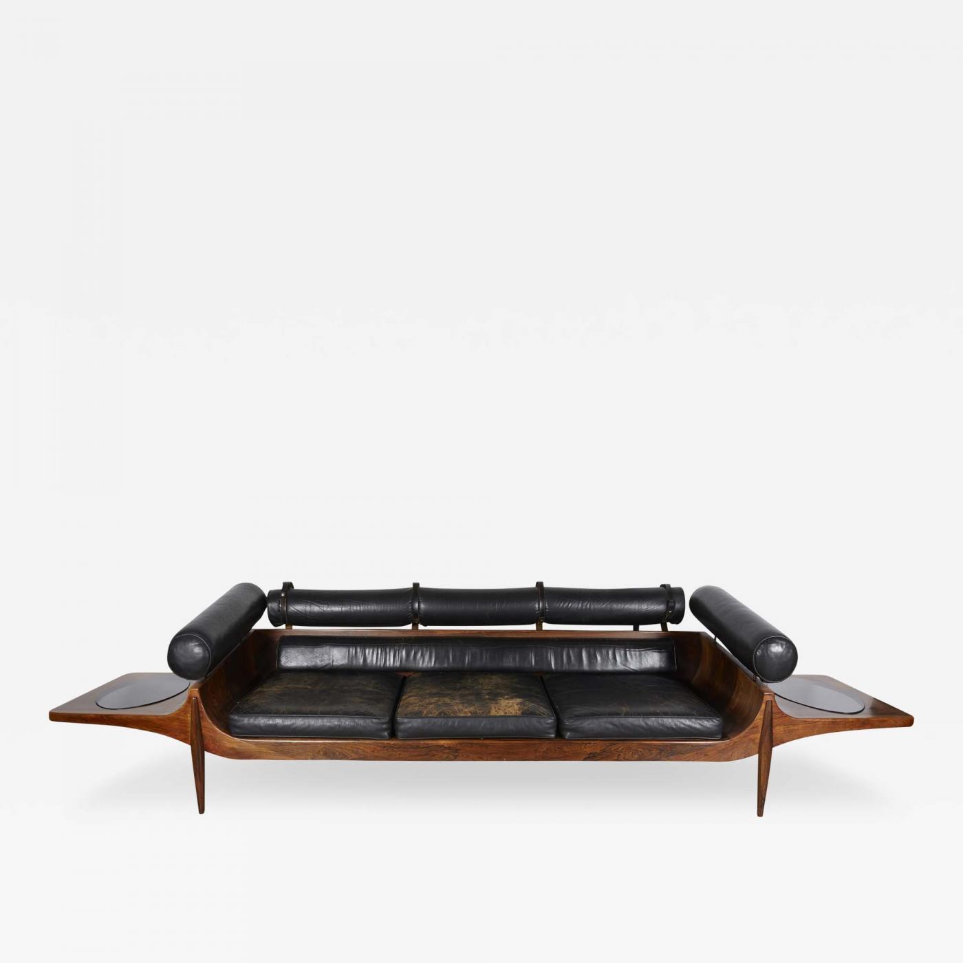 John Brathwaite Unique Custom Rosewood Mid Century Sofa