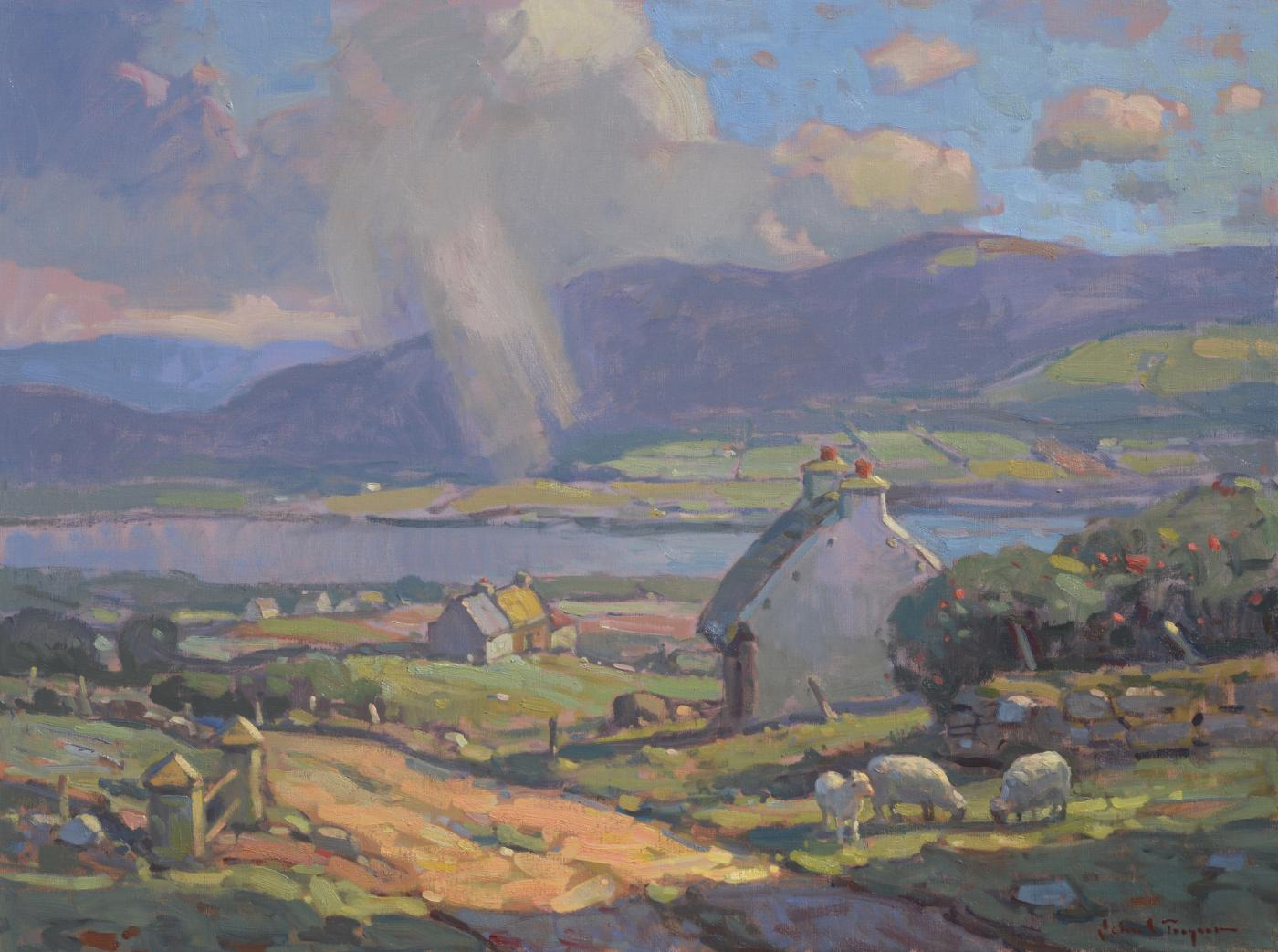 aefe277cf 'County Kerry, Ireland', large transitional contemporary landscape painting