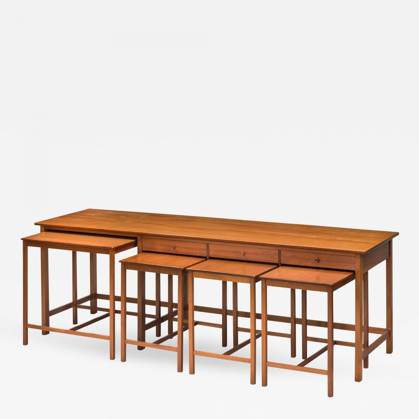 burl brass modern history table concave inlay walnut buffet sideboard