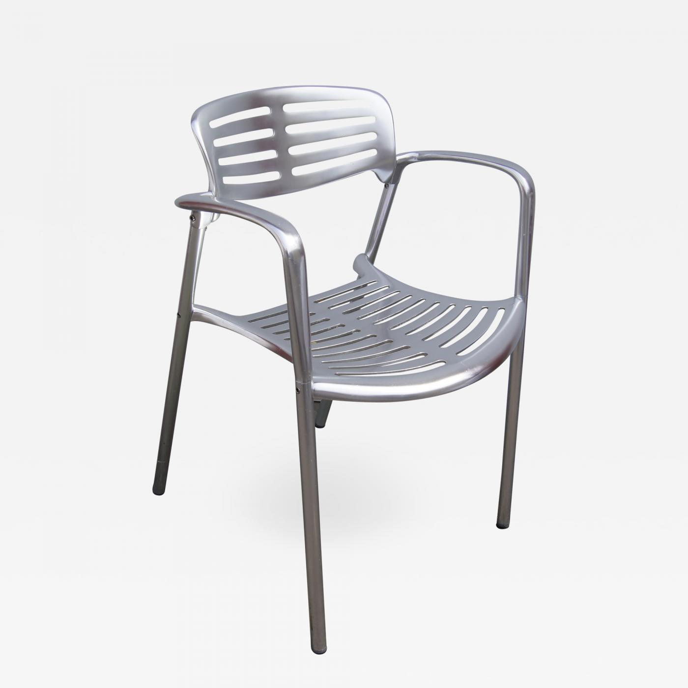 Aluminium outdoor toledo chair by jorge pensi for knoll