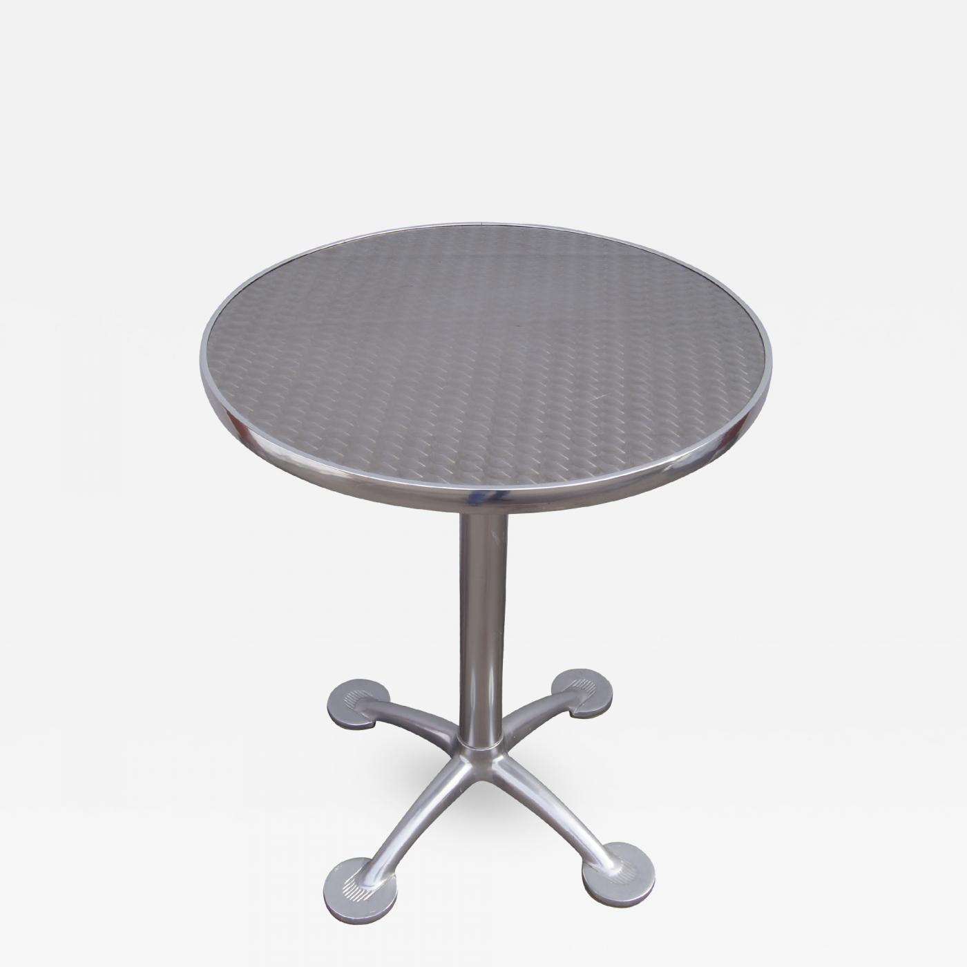 Jorge Pensi - Aluminium and Stainless Steel Pensi Café Table by Jorge Pensi  for Knoll