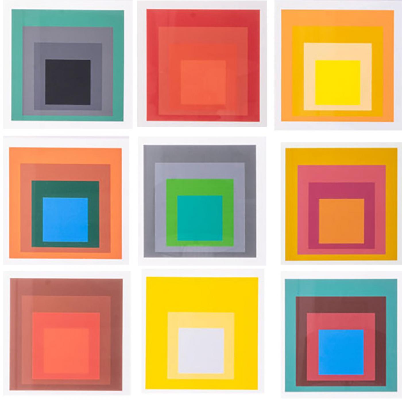 Josef Albers - Original Homage to the Square Serigraphs by Josef Albers