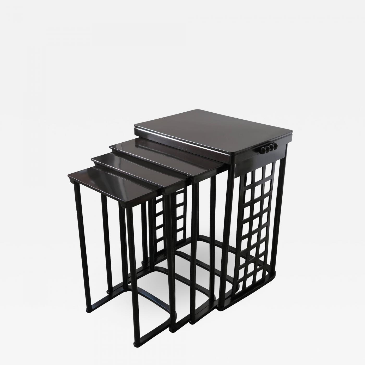 Josef hoffmann josef hoffmann nest of tables with grid listings furniture tables side tables watchthetrailerfo