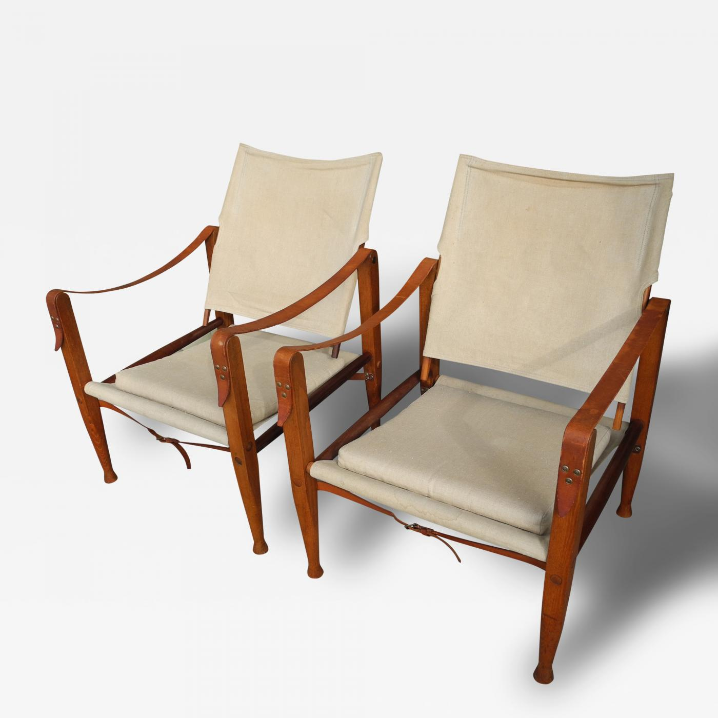 Kaare Klint Danish Modern Portable Safari Chairs by Kaare Klint