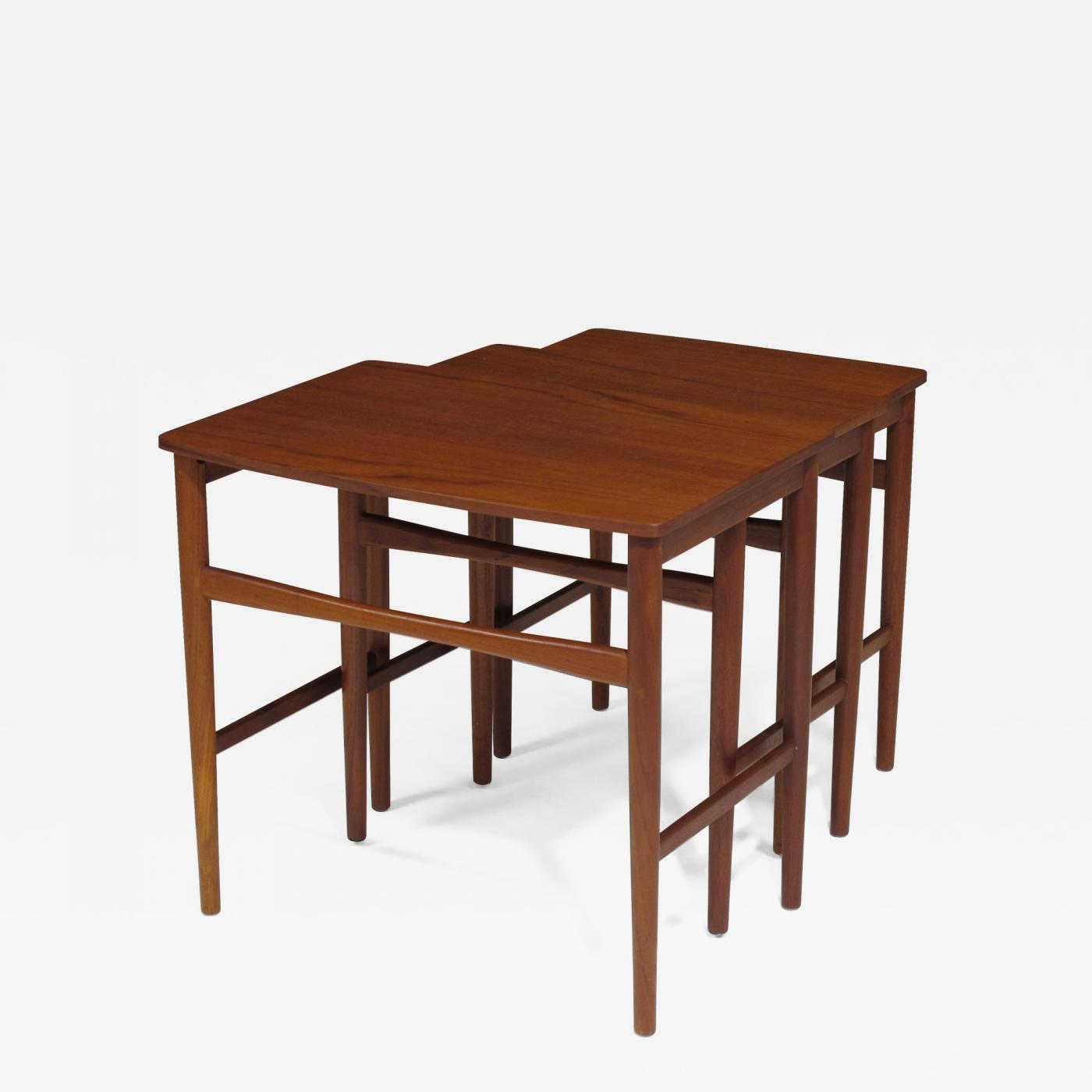 Set Of Mid Century Modern Danish Teak Nesting Tables For Sale At 1stdibs