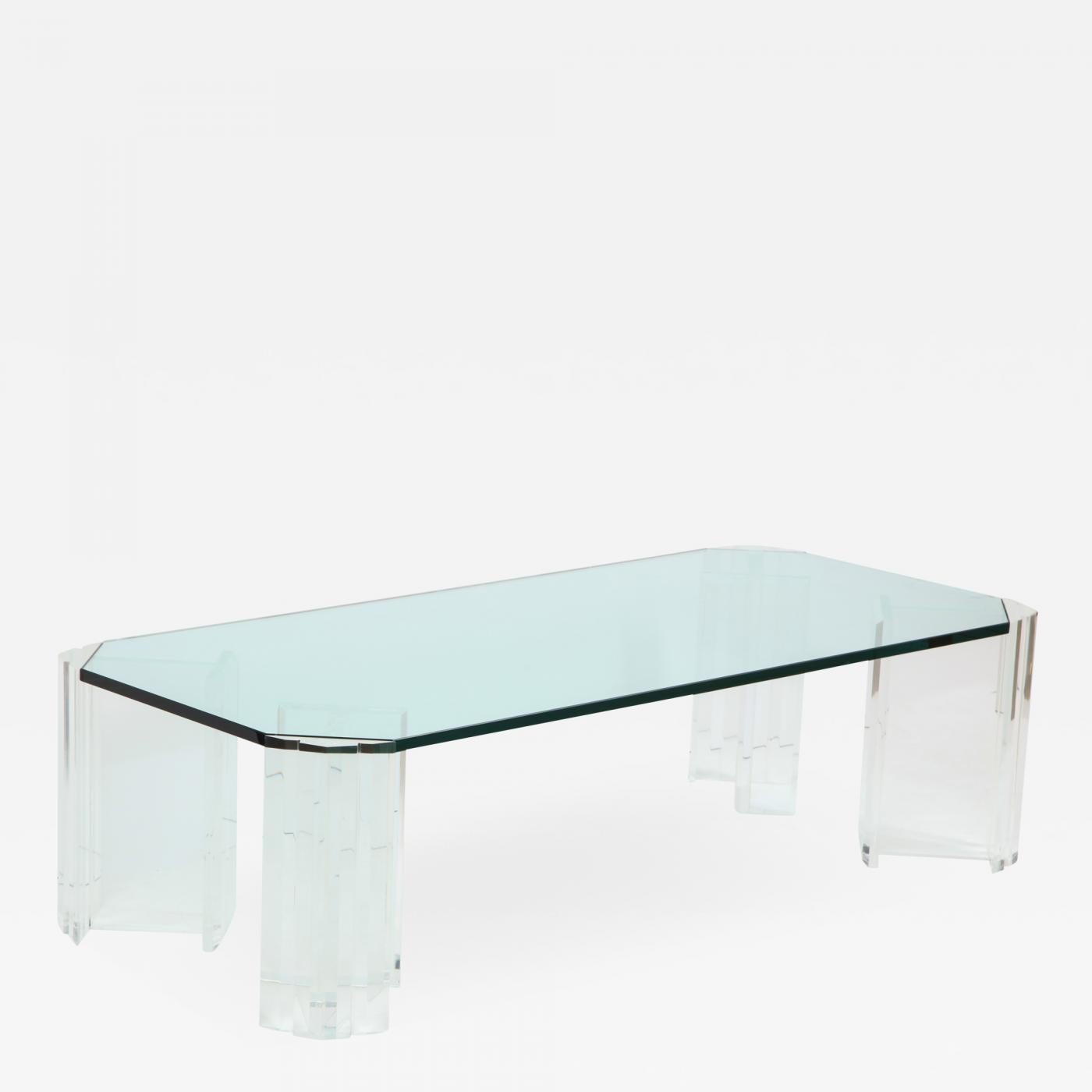 Lucite Coffee Table.Karl Springer 1970 S Modern Large Lucite Coffee Table
