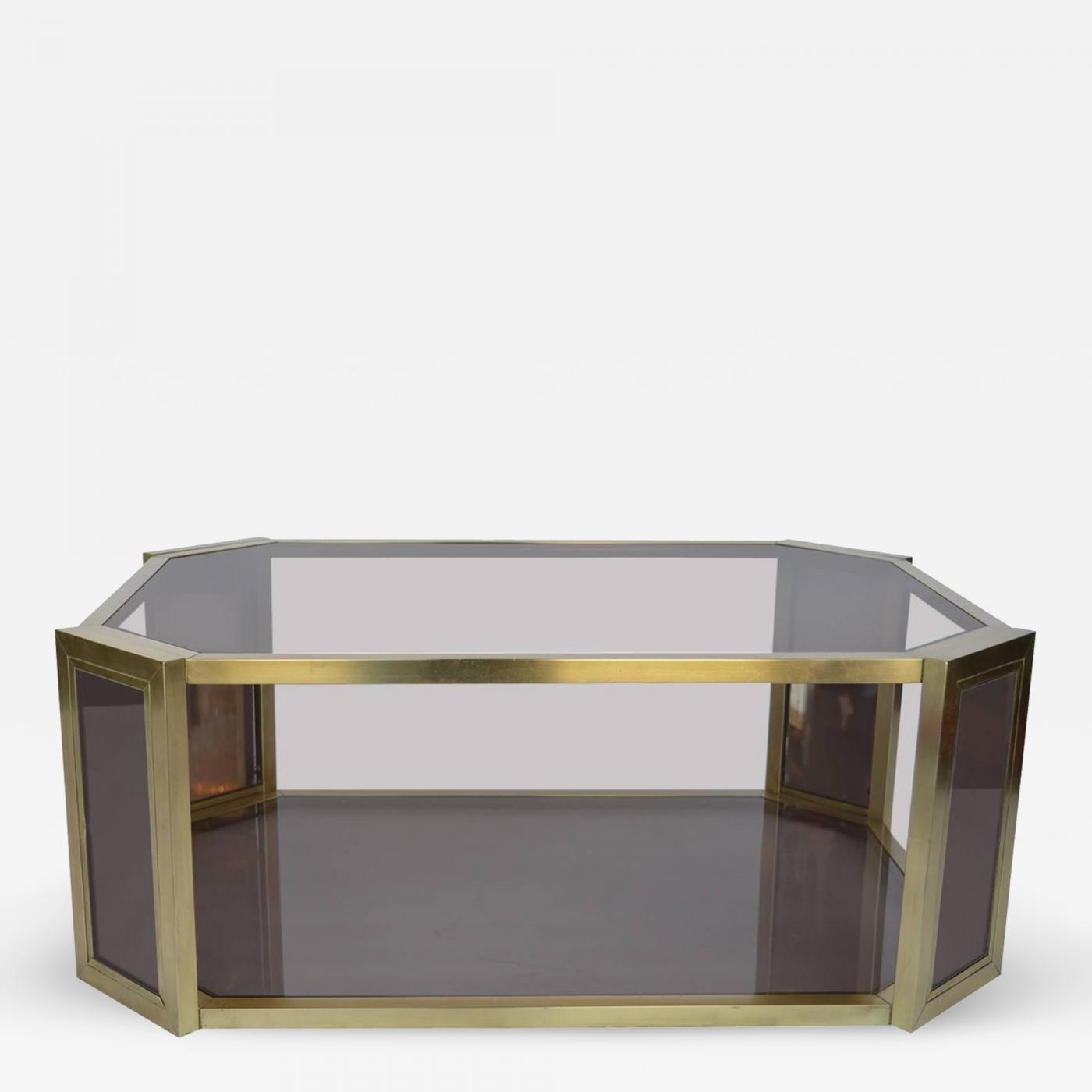 Genial Listings / Furniture / Tables / Center Tables · Karl Springer Brass  Mirrored Karl Springer Coffee Table