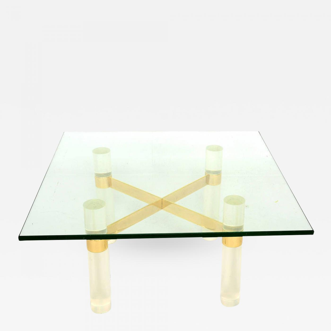 Lucite Coffee Table.Karl Springer Karl Springer Lucite Coffee Table Base