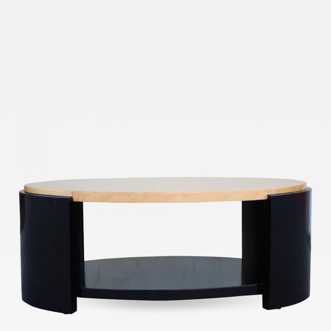Listings / Furniture / Tables / Coffee Tables · Karl Springer Maple And Black  Lacquer ...