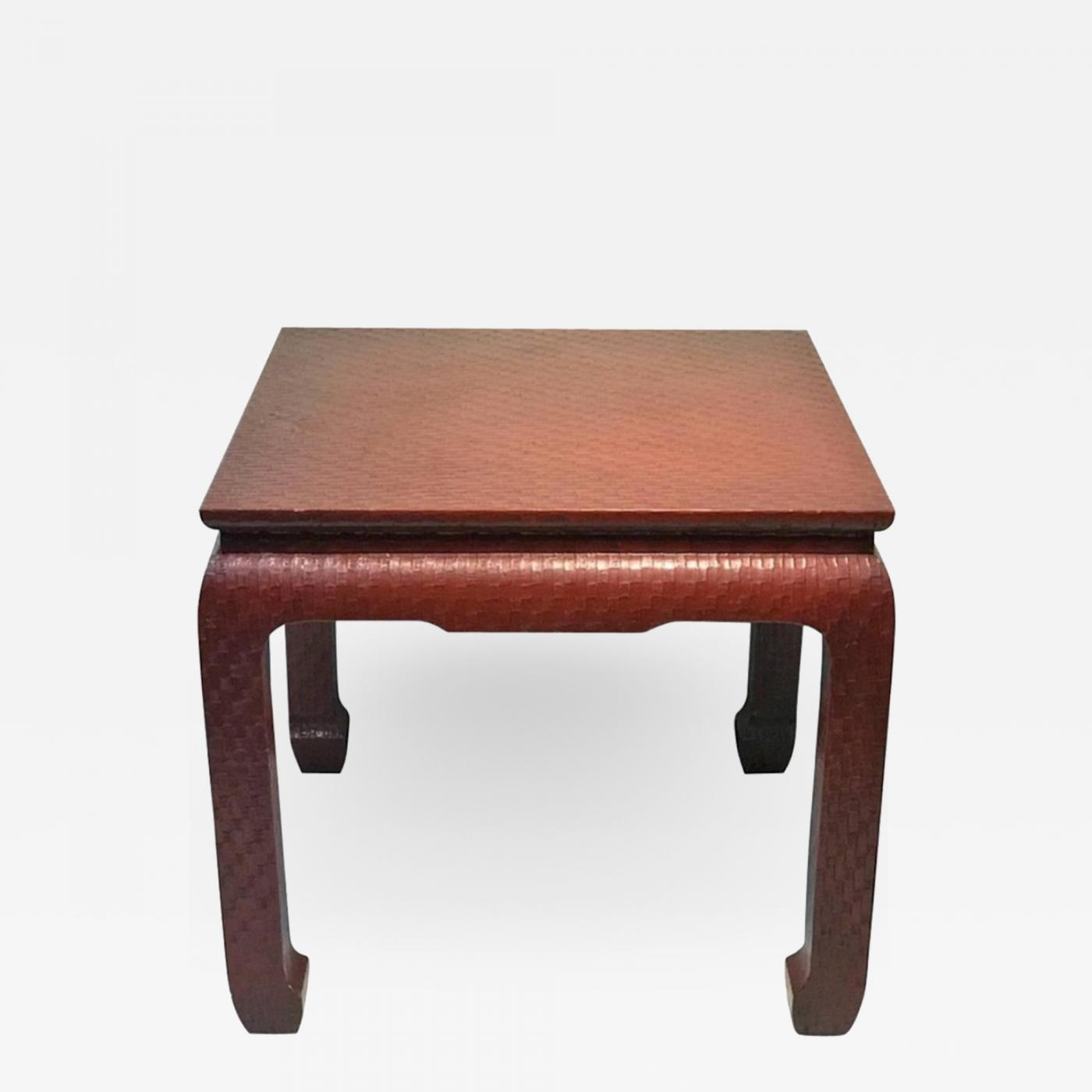 Excellent Karl Springer Modern Deep Red Wrapped Grass Cloth Coffee Table In The Manner Of Springer Bralicious Painted Fabric Chair Ideas Braliciousco