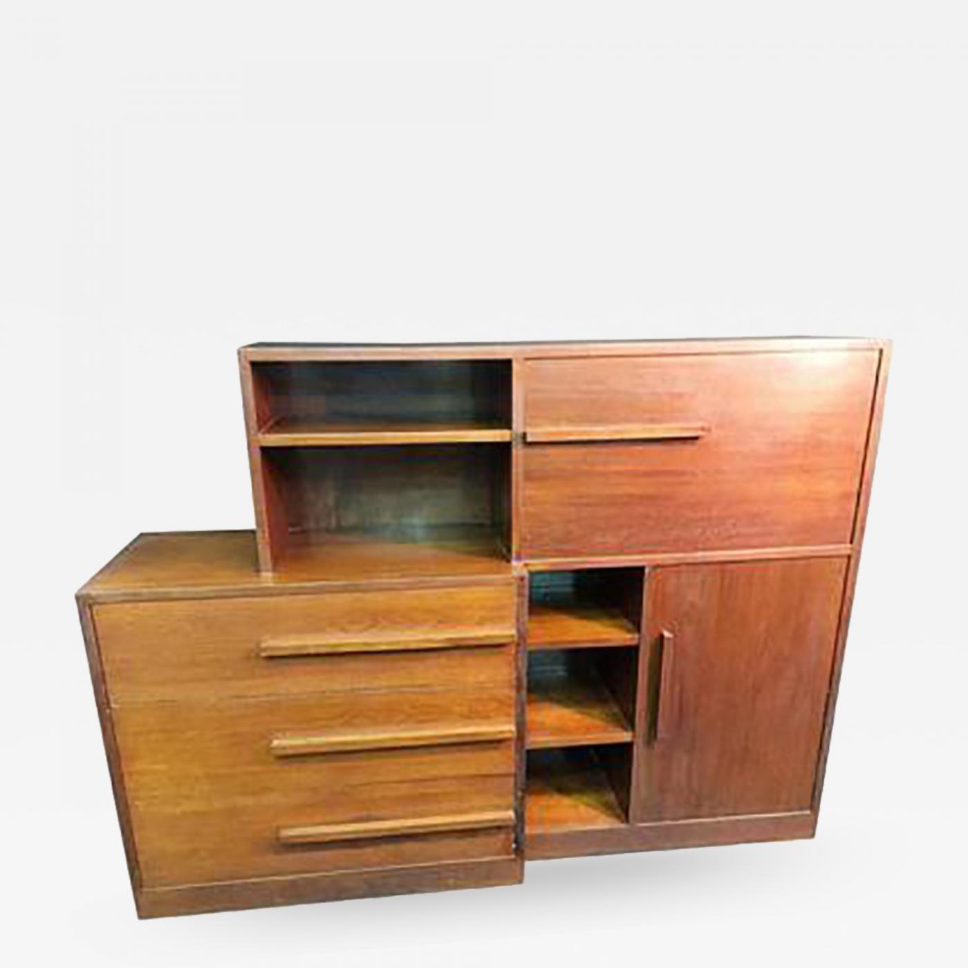 Kem Weber Fine Streamline Art Deco Kem Weber Desk Cabinet