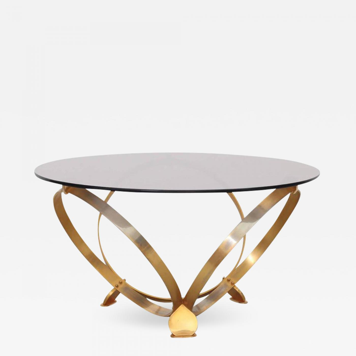 Awesome Knut Hesterberg Round Brass Geometric Rings Coffee Table With Glass Top Andrewgaddart Wooden Chair Designs For Living Room Andrewgaddartcom