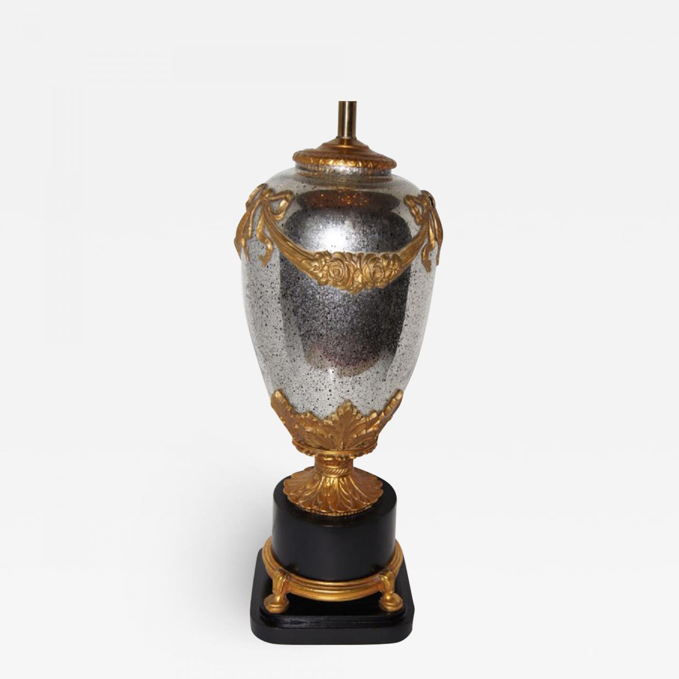 Image of: Large Mercury Glass Table Lamp