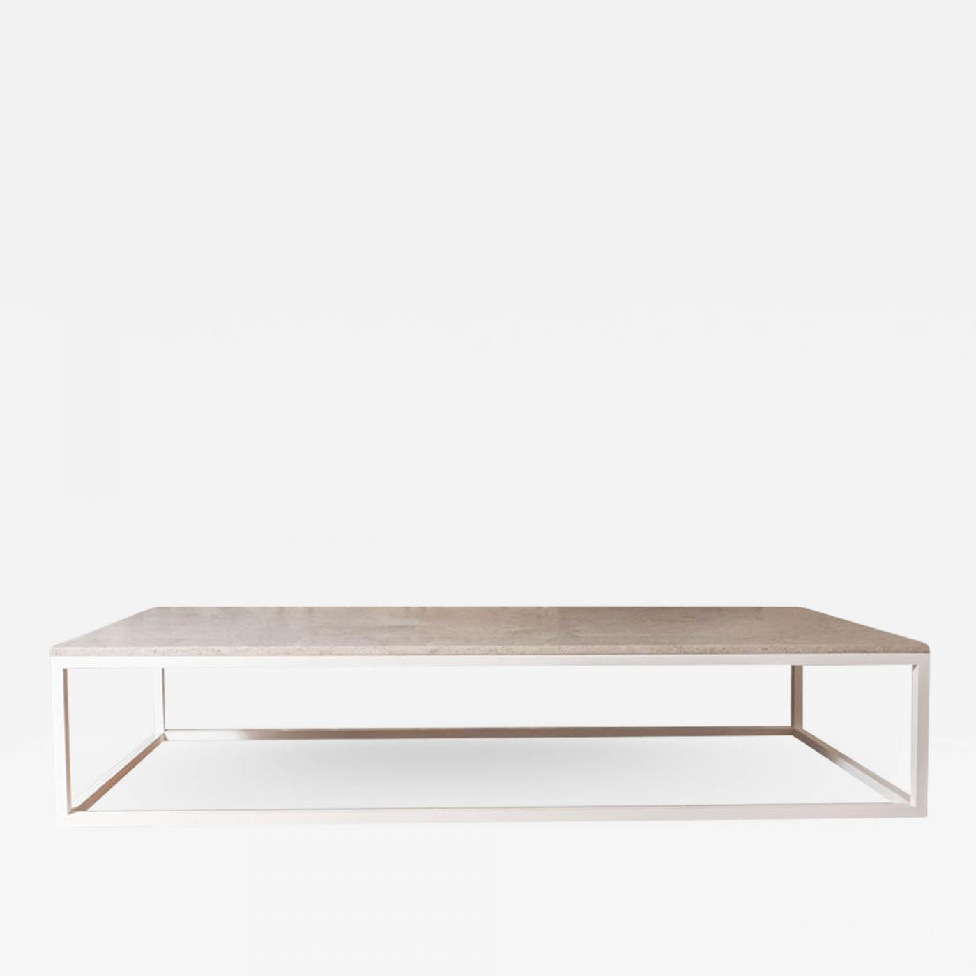 Solid Stainless Steel Coffee Table: Made To Order Stone Top & Solid Stainless