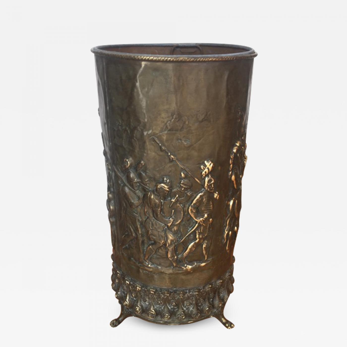 f25833d1c9cd Listings   Decorative Arts   Objects   Umbrella Stands · Large Brass  Umbrella Stand