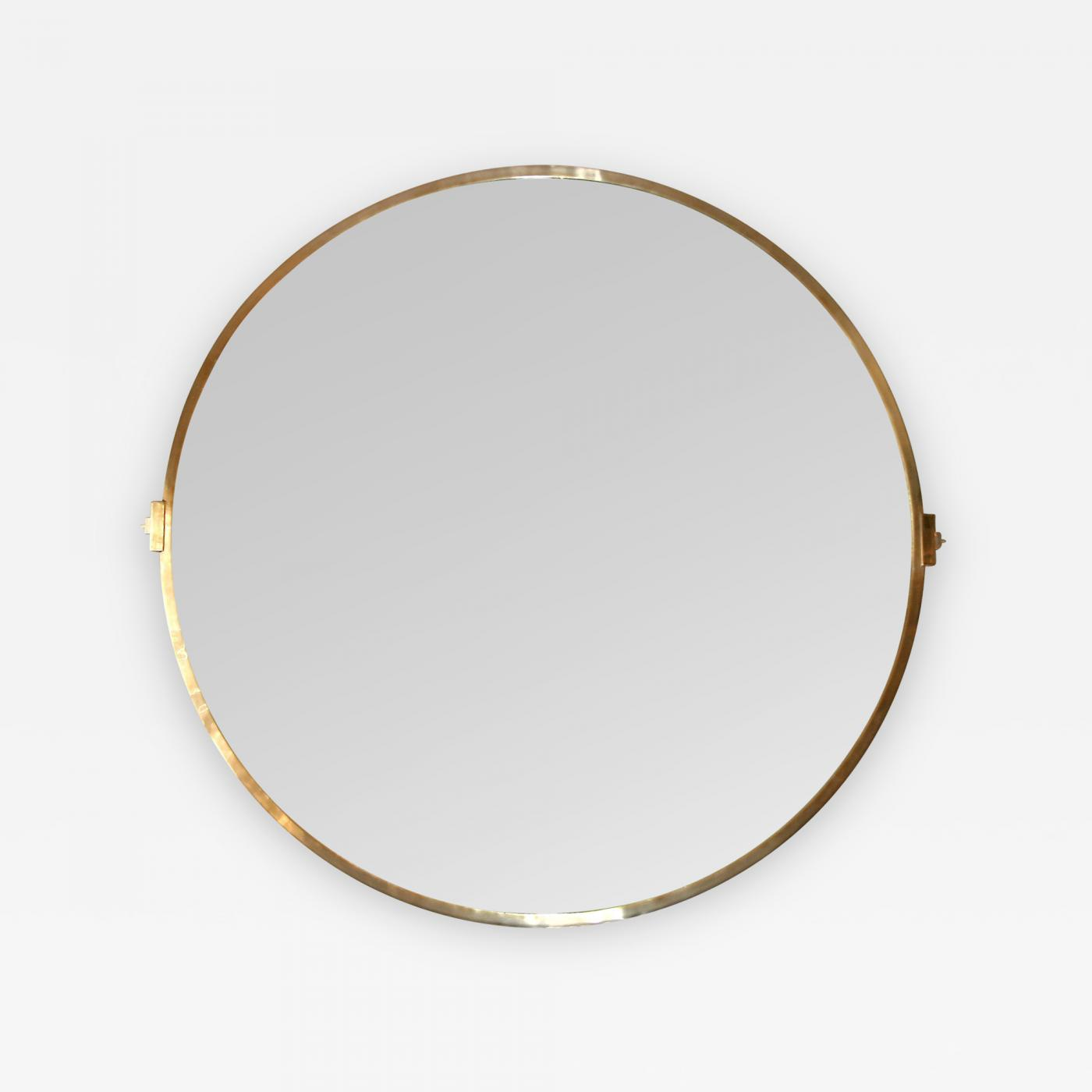 listings  decorative arts  mirrors  wall mirrors · large custom roundbrass mirror. large custom round brass mirror