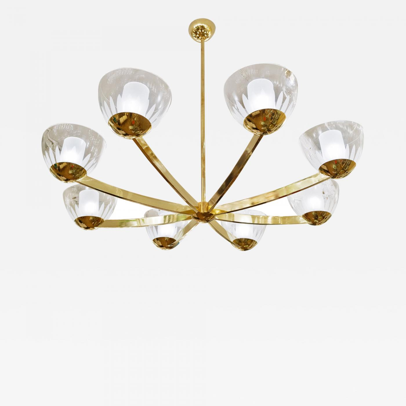 Large italian brass 8 arm chandelier glass bobeches wfrosted listings furniture lighting chandeliers and pendants aloadofball Choice Image