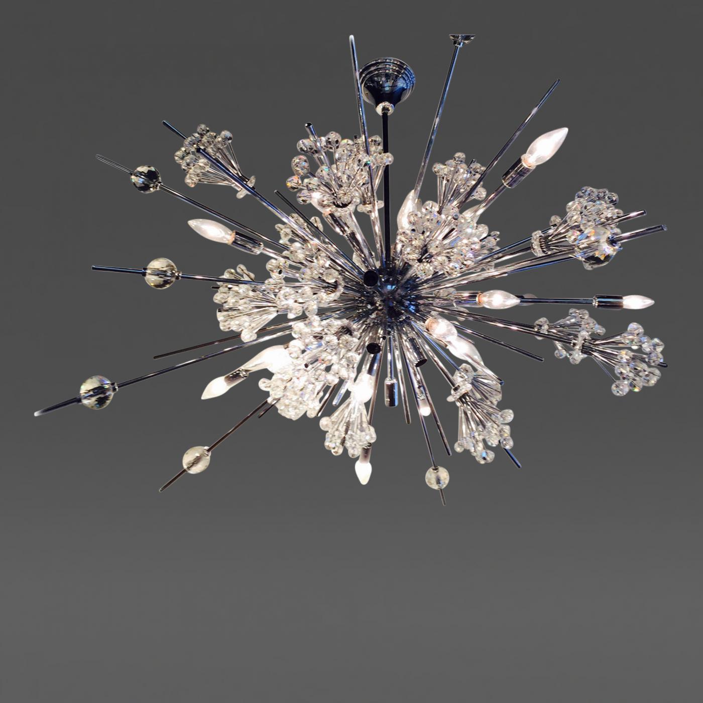 Large sputnik crystal chandelier for Sputnik chandelier
