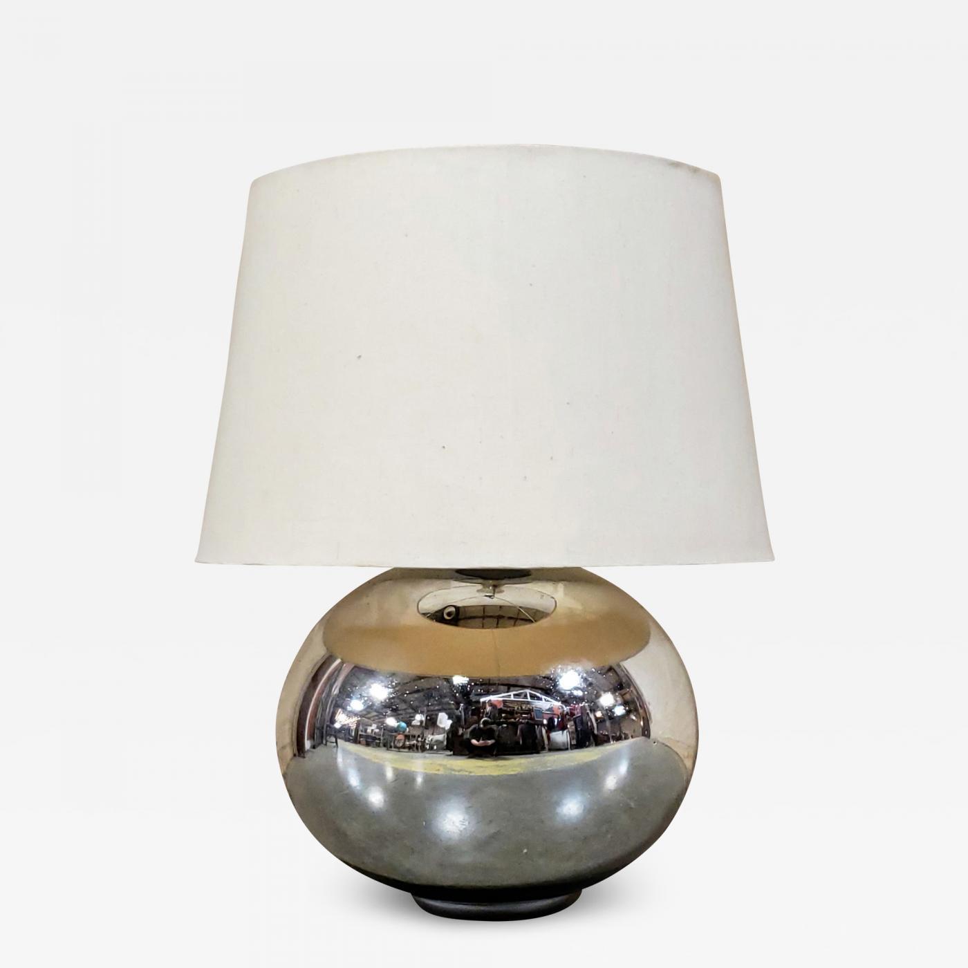 Large Vintage Mercury Glass Lamp