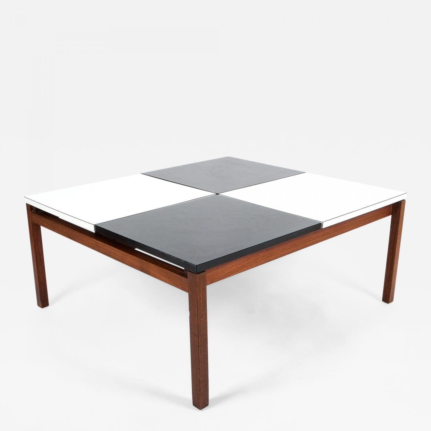 Lewis Butler Lewis Butler Black and White Coffee Table Knoll 1960