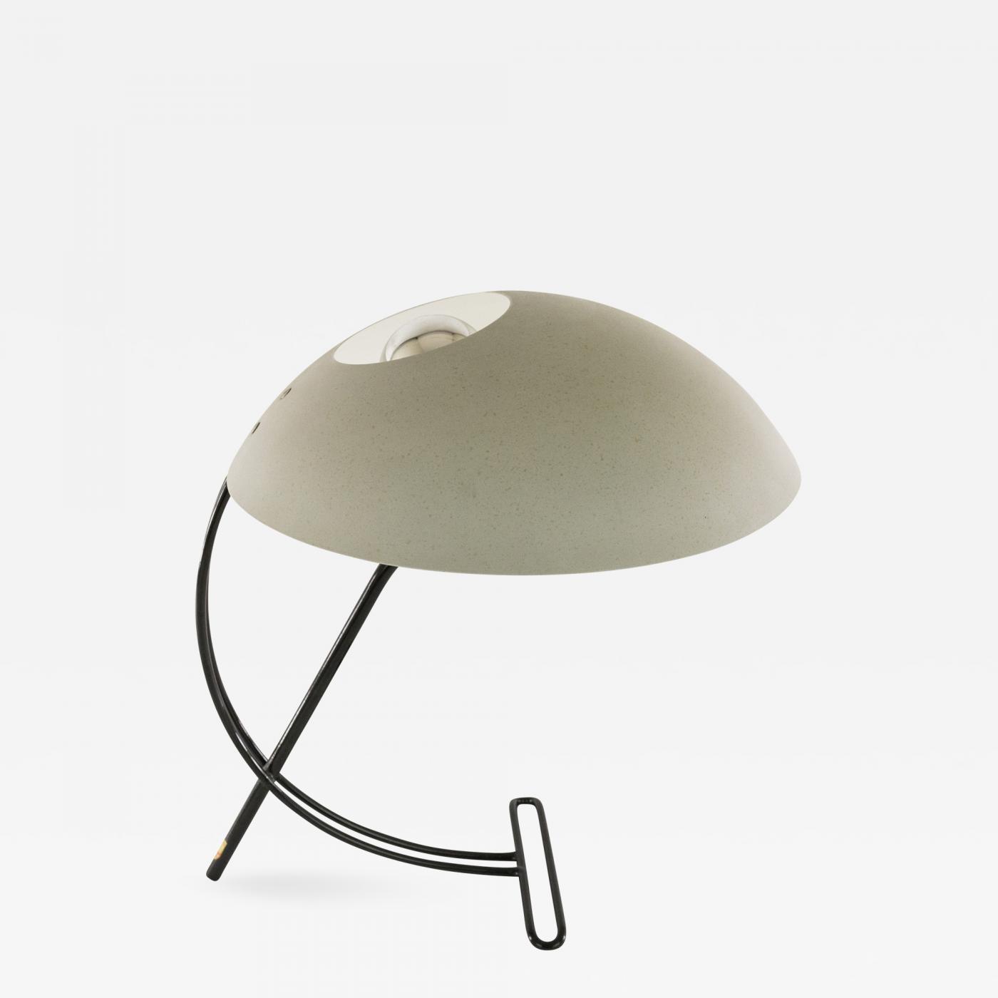 Louis Kalff Lamp.Louis Christiaan Kalff Grey Table Lamp Nb 100 By Louis Kalff For Philips 1950s