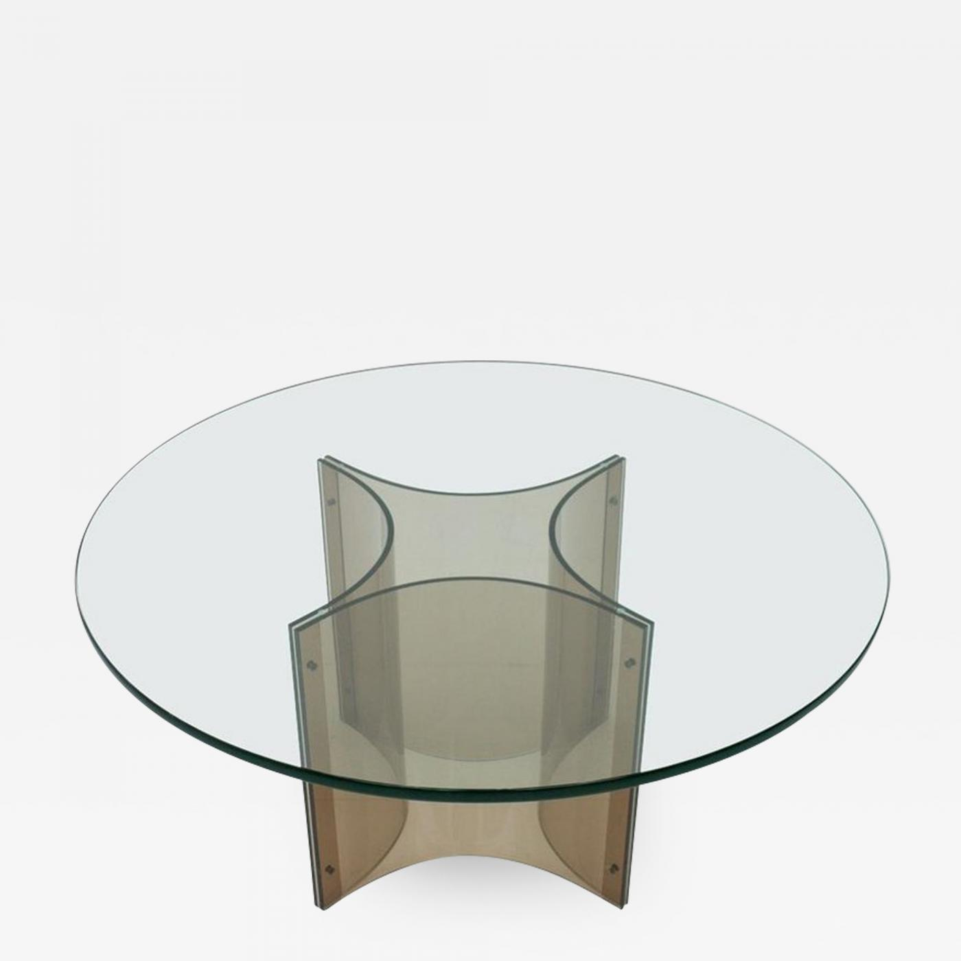Lucite And Glass Coffee Table 1960s