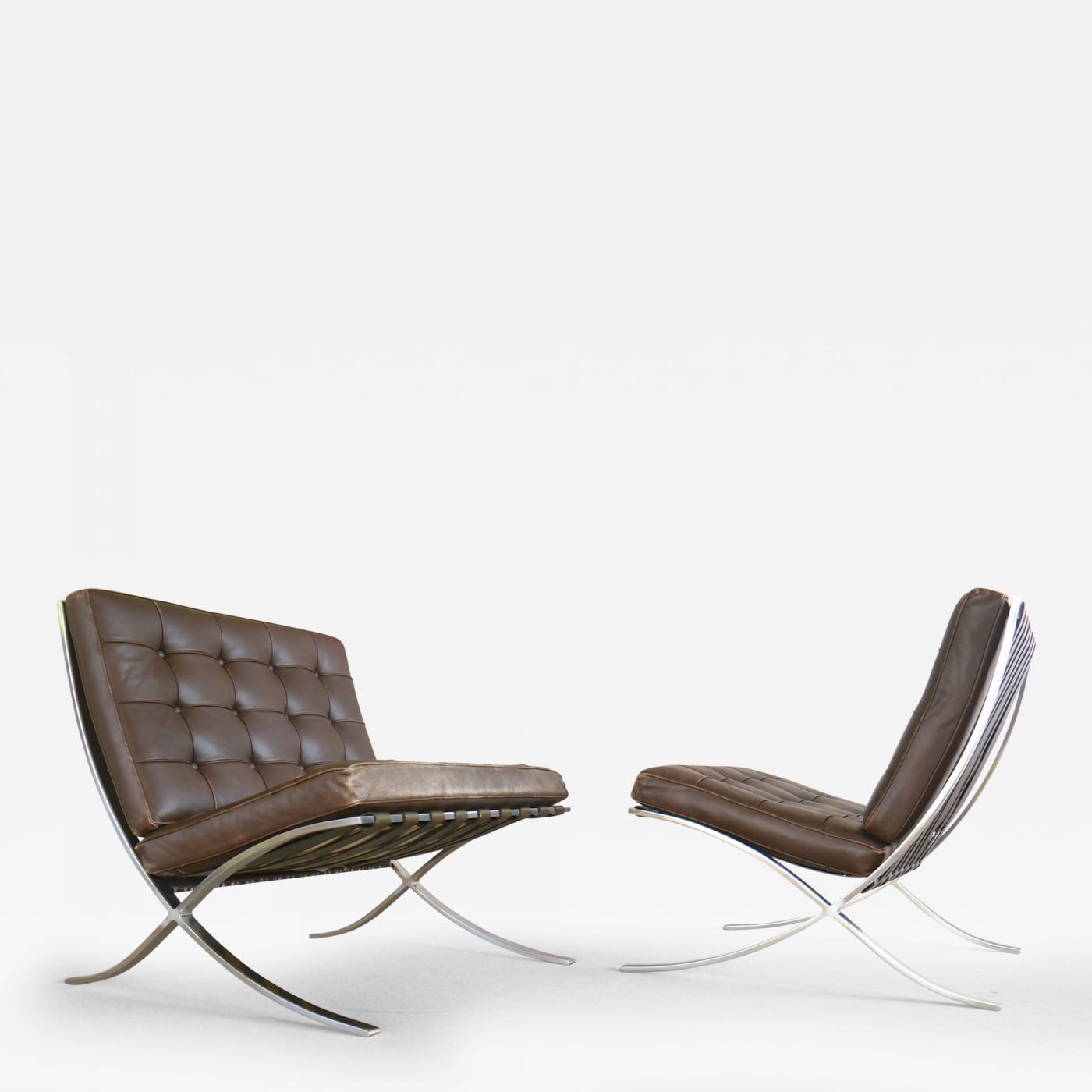 Ludwig Mies Van Der Rohe - Exceptional Pair of Barcelona ...
