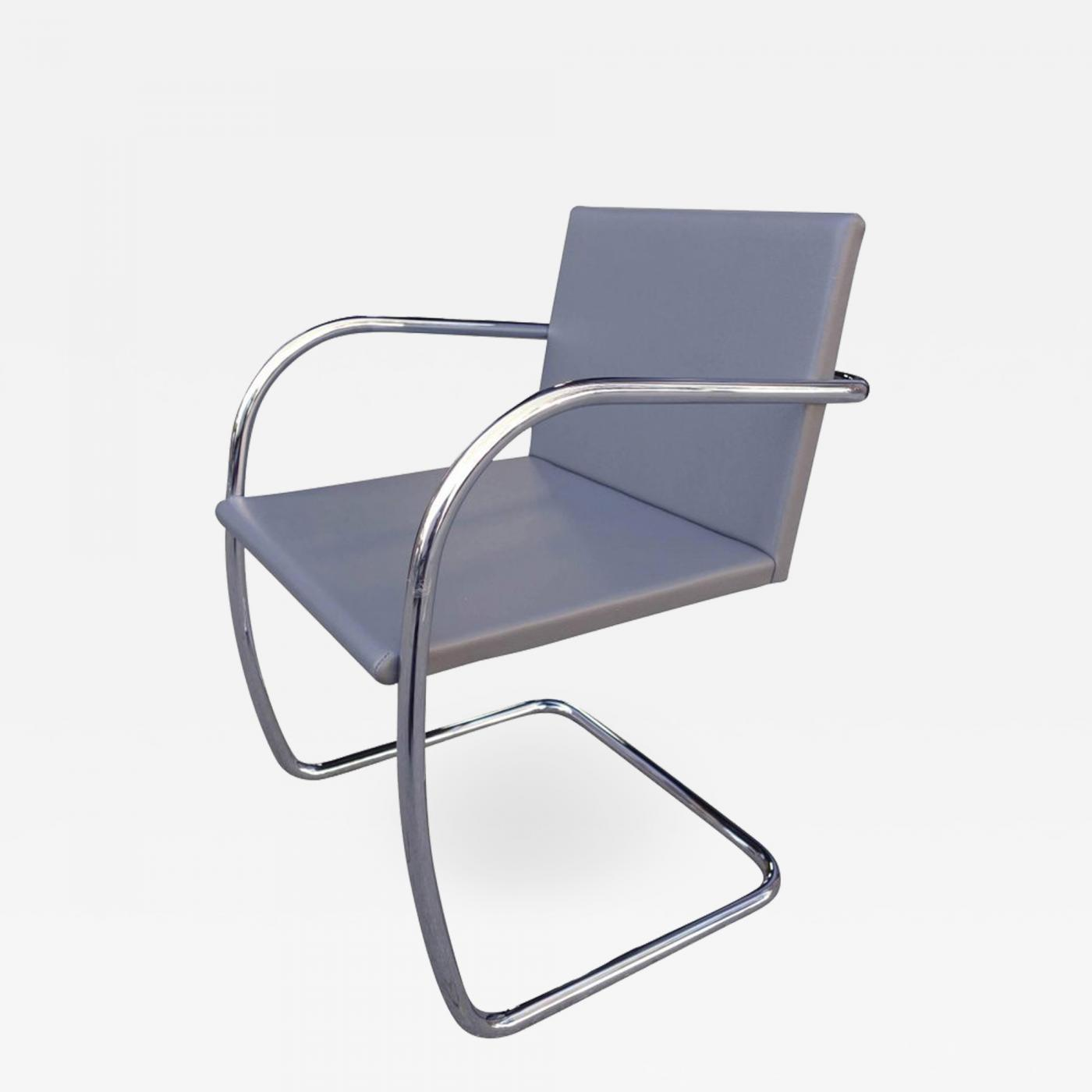 Ludwig Mies Van Der Rohe Midcentury Brno Chairs In Leather By