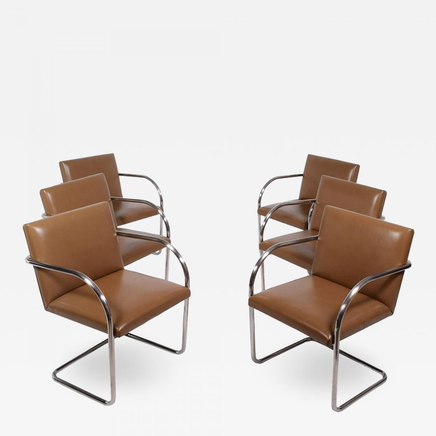 Ludwig Mies Van Der Rohe Set Of Six Brno Chairs By Mies Van Der Rohe For