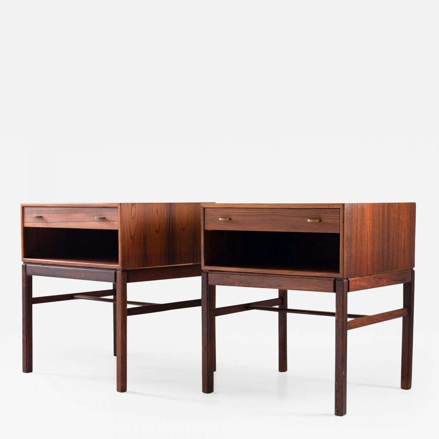 Picture of: Magnus Engstrom Scandinavian Midcentury Bedside Tables In Rosewood Model Casino 1960s