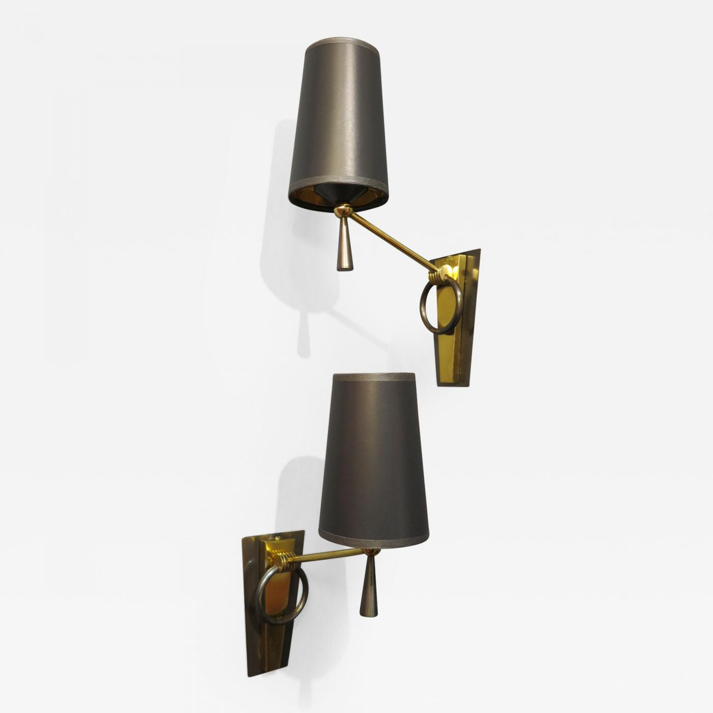 Listings / Furniture / Lighting / Wall Lights and Sconces & Maison Arlus - Pair of French Mid Century Sconces