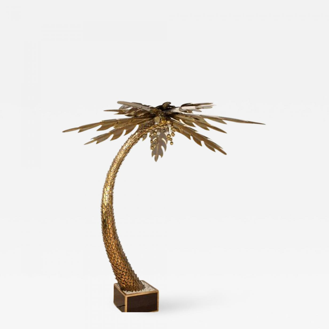 Maison jansen large maison jansen palm tree floor lamp listings furniture lighting floor lamps aloadofball