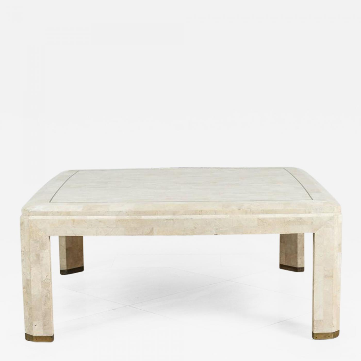 Maitland Smith Maitland Smith Mosaic Square Ivory Coffee Table
