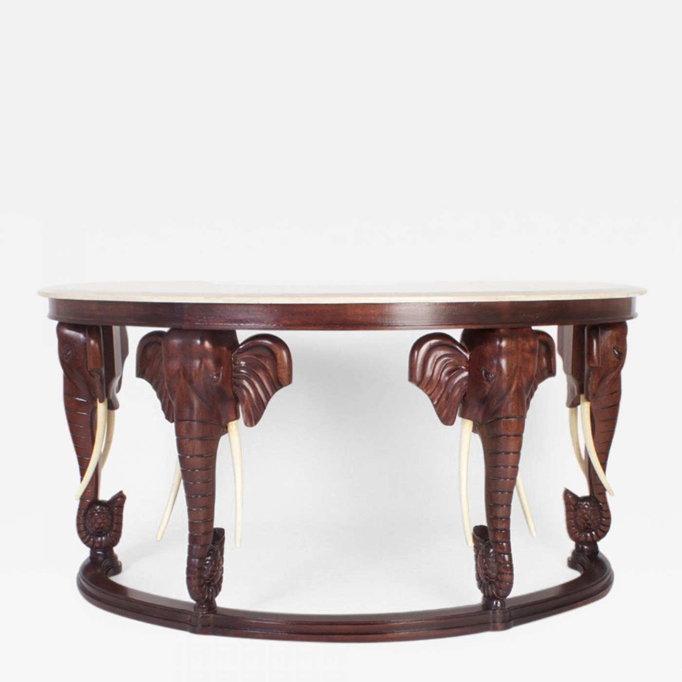 Bon ... Maitland Smith Desk With Elephant Motif. Tap To Expand