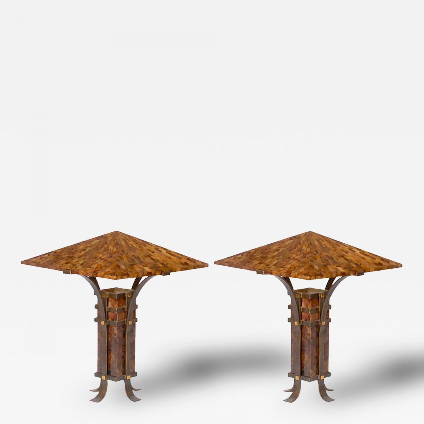 Maitland smith pair of maitland smith tessellated horn and iron listings furniture lighting table lamps geotapseo Choice Image