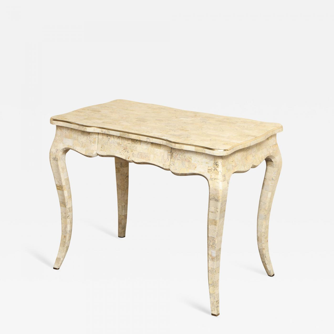 Stone And Brass Writing Desk