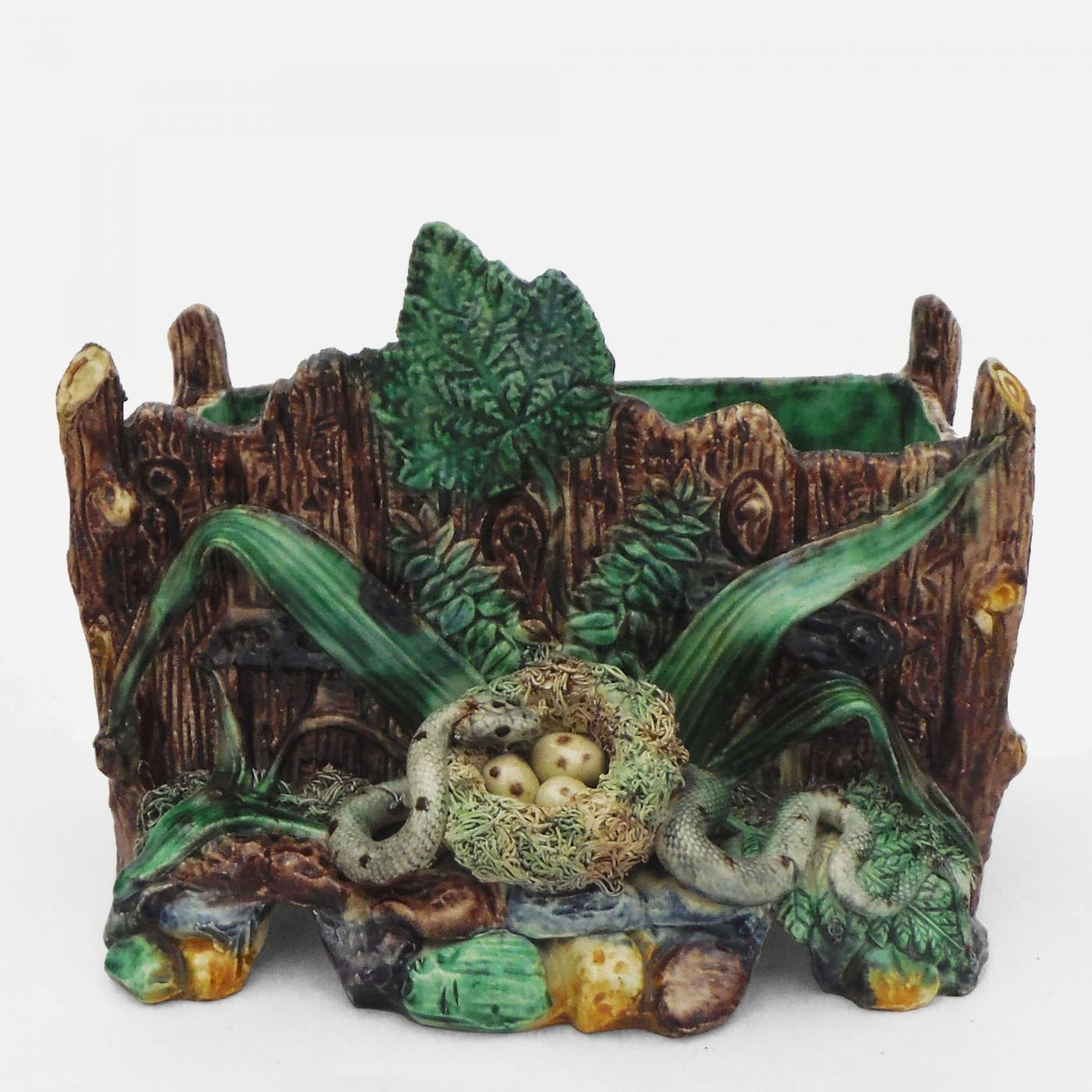 Pleasant Majolica Palissy Snake  Nest Jardiniere With Great Listings  Decorative Arts  Garden  Architectural  Planters  Jardinieres With Delectable Southdown Garden Centre Also Museum Gardens London In Addition How To Make A Garden Bench From A Pallet And Garden Awnings For Sale As Well As Beech Hurst Gardens Additionally Thai Garden Weybridge From Incollectcom With   Great Majolica Palissy Snake  Nest Jardiniere With Delectable Listings  Decorative Arts  Garden  Architectural  Planters  Jardinieres And Pleasant Southdown Garden Centre Also Museum Gardens London In Addition How To Make A Garden Bench From A Pallet From Incollectcom