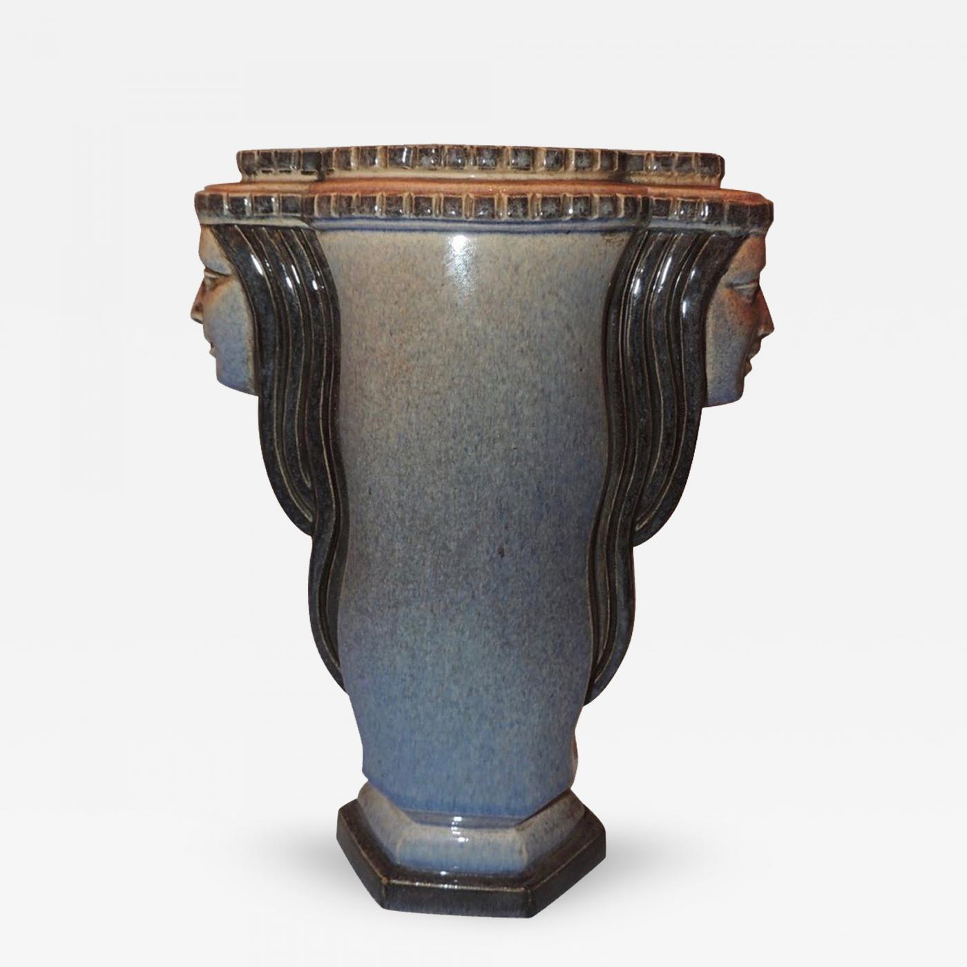 Marcel flix guillard art deco vase two faced by guillard listings decorative arts objects vases jars urns floridaeventfo Image collections