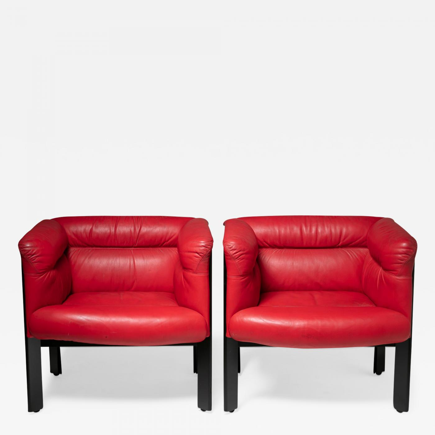 Poltrona Marco Zanuso.Marco Zanuso Pair Of Interlude Chairs By Marco Zanuso For Poltrona Frau