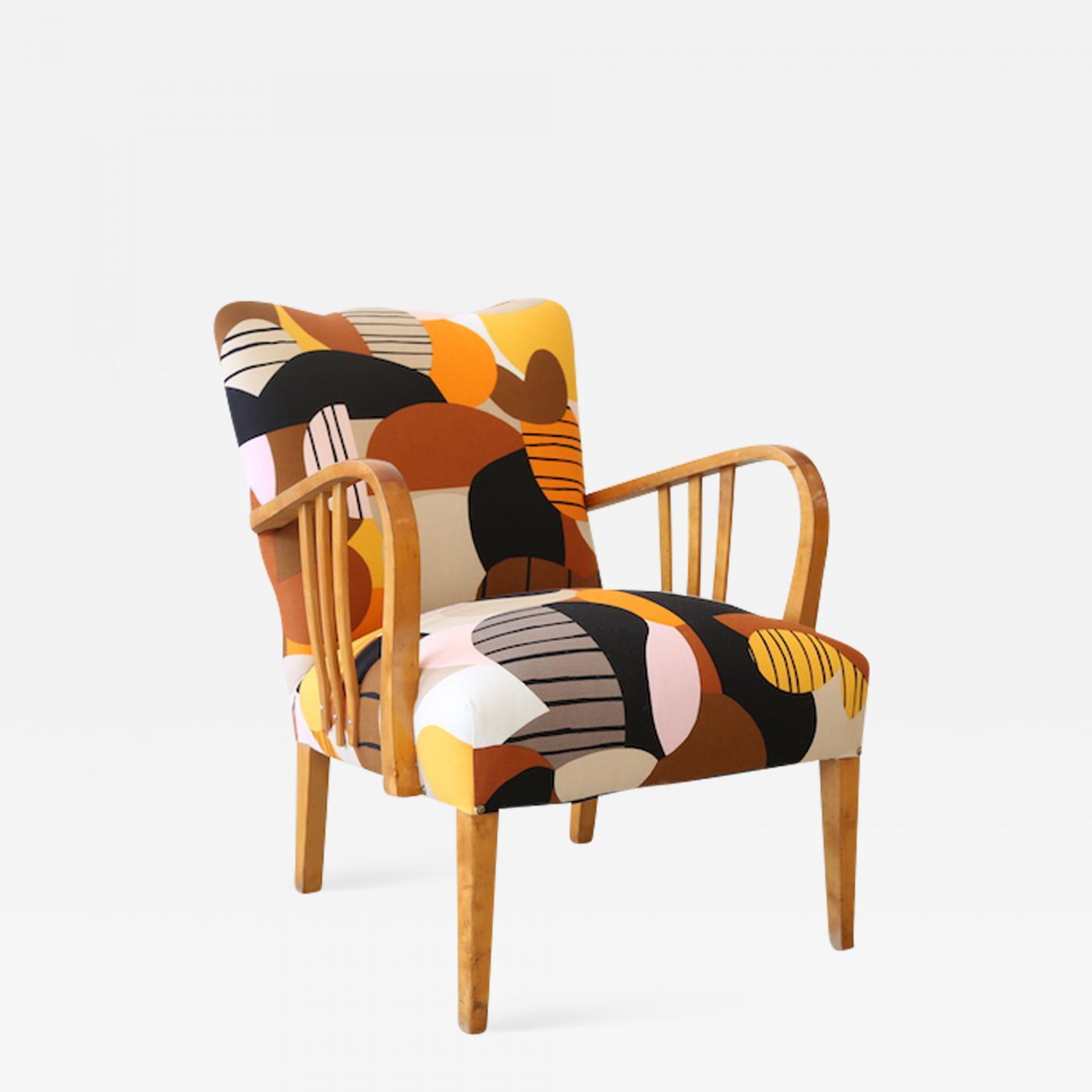Listings / Furniture / Seating / Armchairs · Marimekko Britta Maj On  Vintage Swedish Armchair