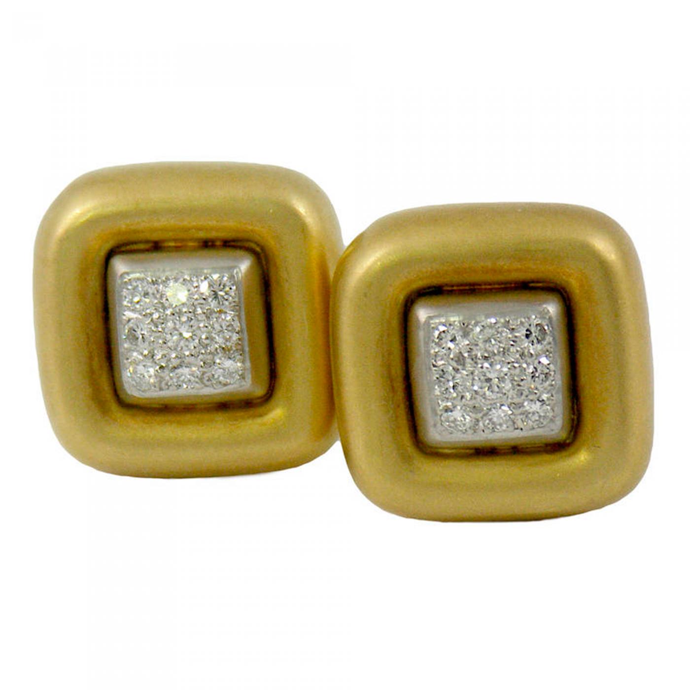 Marlene Stowe Marlene Stowe Pavé Diamond Gold Earrings