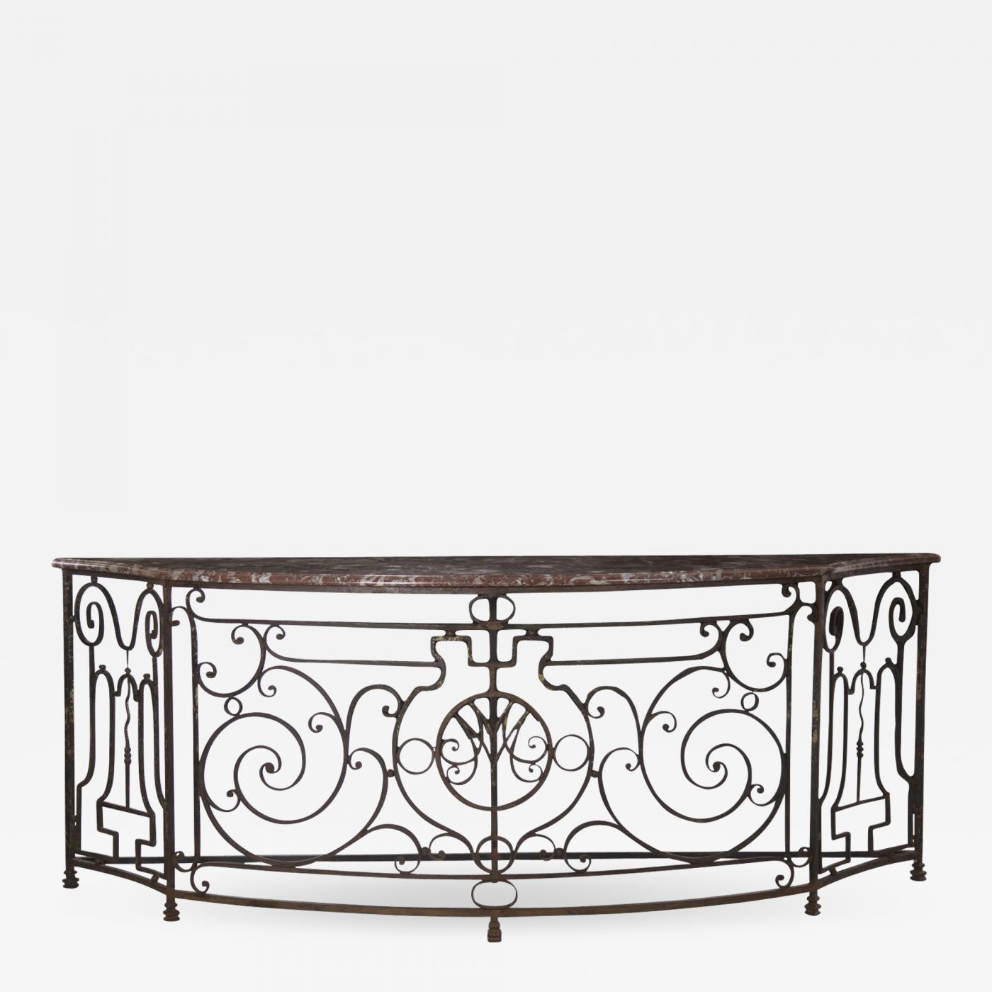Remarkable Massive 19Th Century French Wrought Iron Console Table Inzonedesignstudio Interior Chair Design Inzonedesignstudiocom