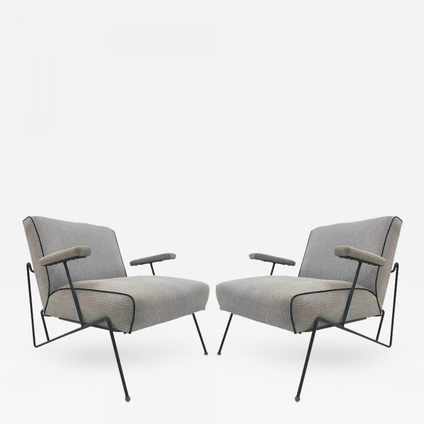 Listings / Furniture / Seating / Lounge Chairs · Maurizio Tempestini Pair  Of Wrought Iron ...