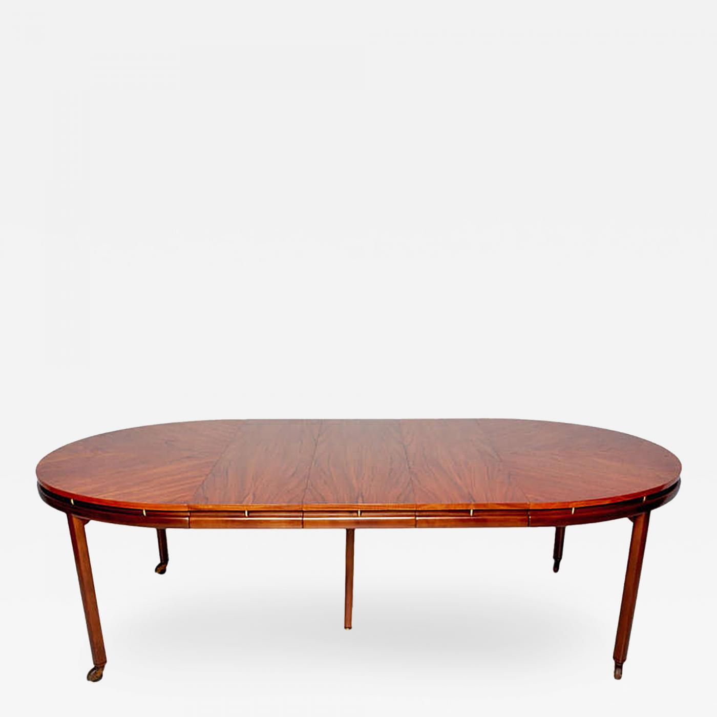 Michael Taylor Mid Century Modern Oval Dining Table by Michael