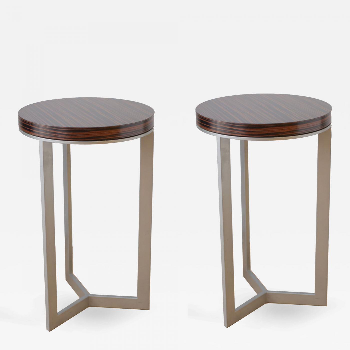 Listings / Furniture / Seating / Stools · Mid Century Macassar Ebony ...