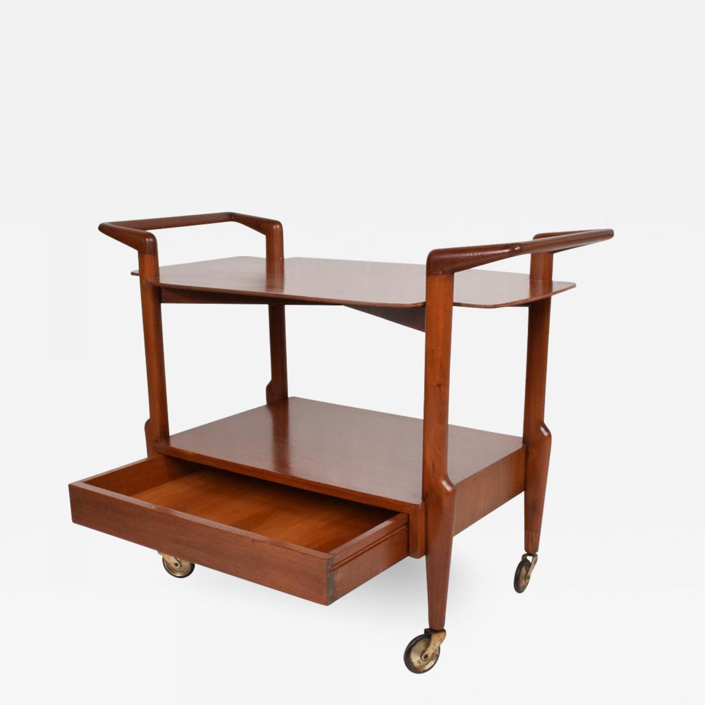 Mid-Century Mexican Modern Service Cart Mahogany Regil de Yucatan Charles  Allen