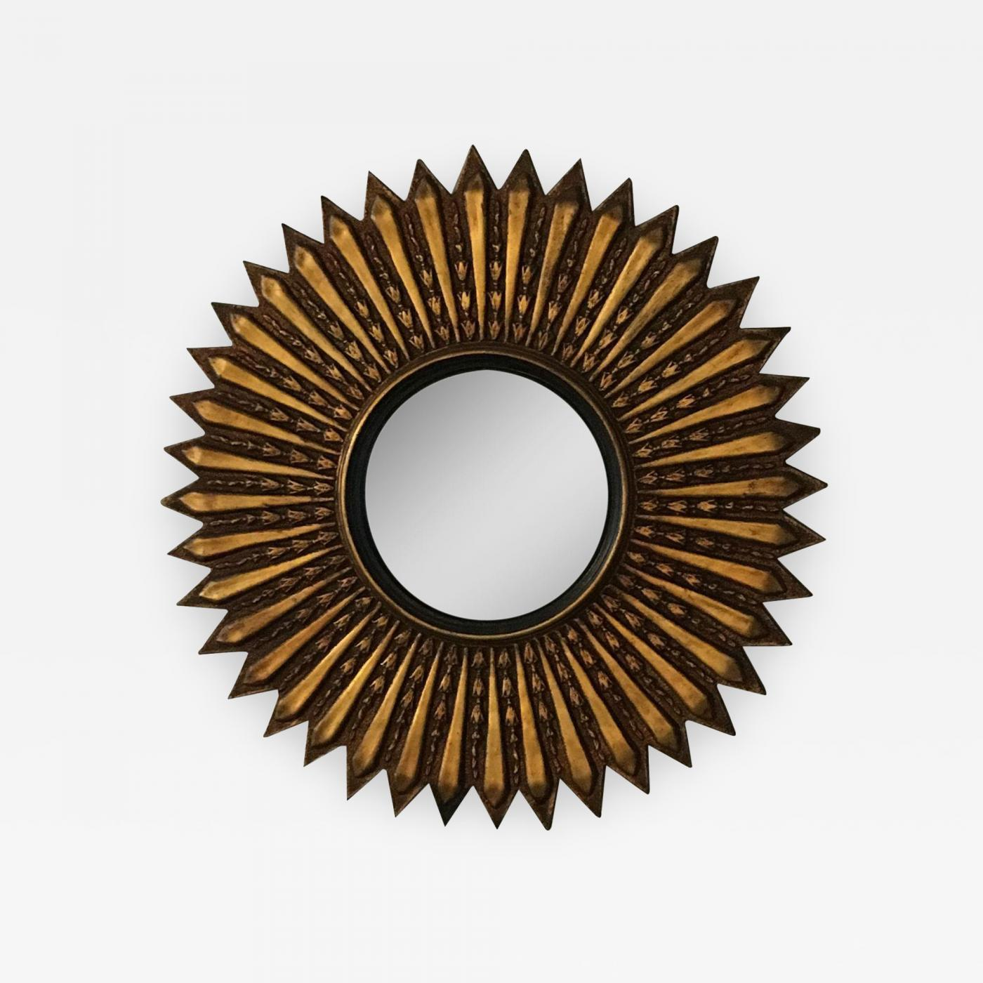 Mid century modern argentinian gilded wood starburst convex mirror listings decorative arts mirrors wall mirrors amipublicfo Gallery