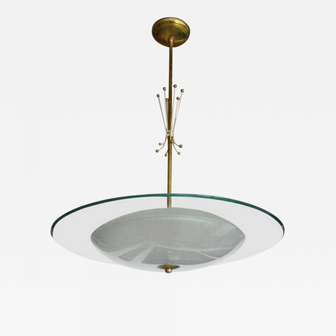 Mid Century Modern Atomic Chandelier in the Style of Fontana Arte